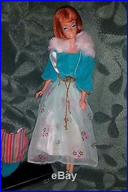 Vintage Barbie Minty Titian American Girl Barbie Doll, Tagged OSS, Japan Heels