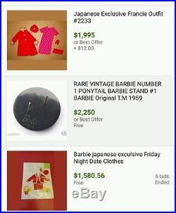 Vintage Barbie Mixed Lot Vintage Barbie Doll Accessories Japan rare