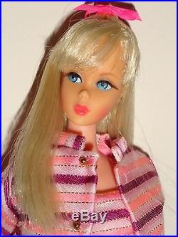 Vintage Barbie Platinum TNT Twist N Turn Japan withDancing Stripes Heels Exc. Cond