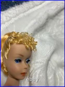 Vintage Barbie Ponytail Lemon Yellow Blonde