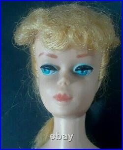 Vintage Barbie Ponytail Original no Retouches Ash Blonde with Box