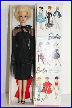 Vintage Barbie Sidepart Bubblecut Blonde & Box & #1609 Black Magic 1964 60er
