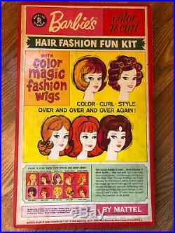 Vintage Barbie's Color'n Curl Hair Fashion Fun Kit NRFB! MIB! Color Magic Wigs