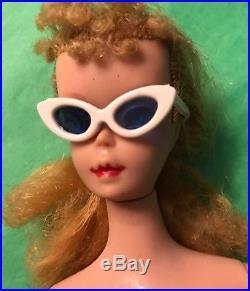 Vintage Blonde Ponytail Zebra Suit Barbie Doll (Japan heel to toe)