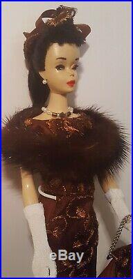 Vintage Brunette #3 Ponytail Barbie Original Brown Eyeshadow