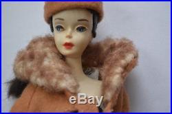 Vintage Brunette Ponytail Barbie Doll 3 Solid Body Rare Japan Box Stamp