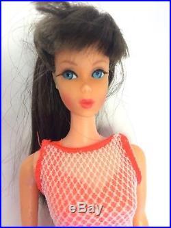 Vintage Brunette Twist N Turn Barbie Doll Dark Brunette Made in Japan