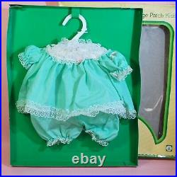 Vintage Cabbage Patch Kids Baby Cloth Green 1984 Japan Tsukuda Hobby