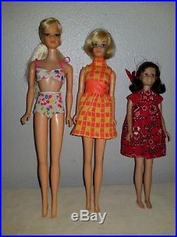 Vintage Casey Stacey Scooter Barbie Dolls Japan Mattel Mod TNT