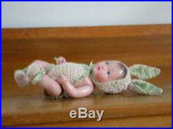 Vintage Composition Baby Bunny Doll Japan