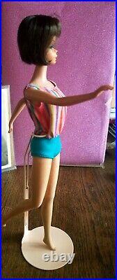 Vintage Dark Brunette High Color American Girl Barbie Doll Japan body