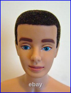 Vintage FIRST-ISSUE Brunette Flocked Haired KEN in RARE Original #1 Ken Box MINT