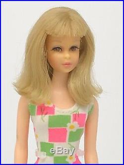 Vintage Francie Barbie TNT Japan Beautiful Blonde Hair Swimsuit