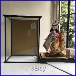 Vintage Geisha Hero Doll In Glass Case