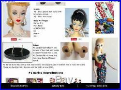 Vintage Genuine #1 Barbie 1959 Tubes In Feet + 4 Near Complete Vintage Outfits