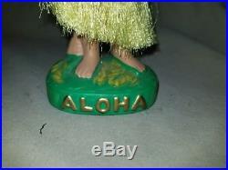 Vintage Hawaiian Hula Bobble Nodder Girl Doll Figurine Composite Japan Aloha