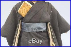 Vintage Ichimatsu Doll EdoMeiji 33cm Boy Japan Ningyo Kimono Gofun Very Good