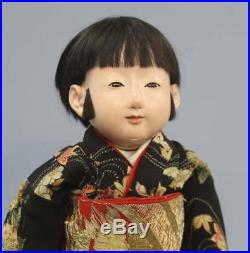 Vintage Ichimatsu Doll MeijiTaisho 62cm Boy Japan Ningyo Kimono Very Good Free