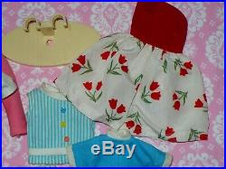 Vintage Ideal TAMMY DOLL BS-12 2 and CLOTHING CLOTHES LOT with Stand JAPAN