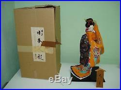 Vintage Japan Geisha Doll in Box by Mitsukoshi Ltd