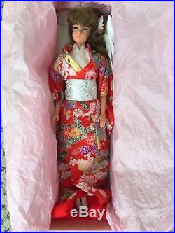 Vintage Japan PB Store Exclusive Japanese Kimono Barbie With RARE wig MIB