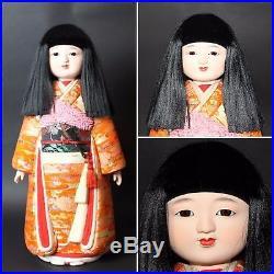 Vintage Japanese Beautiful Doll 1900s KIMONO GEISYA KABUKI figure from JAPANa229