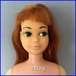 Vintage Japanese Exclusive Skipper Doll Titan Hair Red Head Barbie Mattel Japan