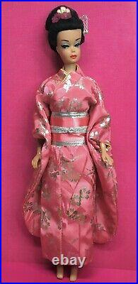 Vintage Japanese Fashion Queen Raven BARBIE Pink Japan Kimono & Obi DOLL BYAPRIL