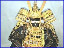Vintage Japanese Hand Made Samurai to Scale Armor Doll Signed Original Docs