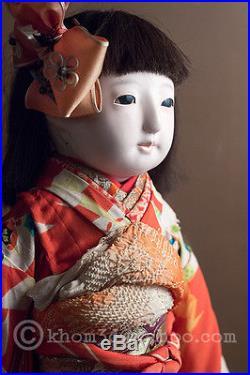 Vintage Japanese Ichimatsu Gofun Doll / japan 40's with Wooden case RARE