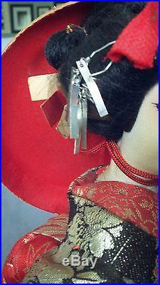Vintage Japanese Kyugetsu Costume Doll 15 Many Umbrellas Tokyo Japan
