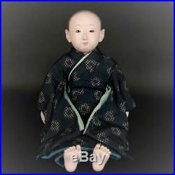 Vintage Japanese ichimatsu doll Taisho boy kimono free shipping from japan m
