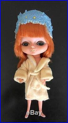 Vintage KAMAR 1968 JAPAN doll BIG EYES RED HAIR Mona