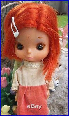 Vintage Kamar BIG EYES jones doll redhead gigi 1968 Japan