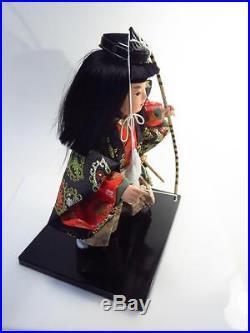 Vintage Kyugetsu Japan Minamoto Yoshitsune Genji Warrior Samurai Archer Doll