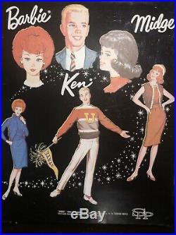 Vintage Lot 1960s Barbie /Ken /Midge Dolls Case Clothes Fashion Booklets Japan