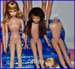 Vintage Lot Barbie MIDGE Francie CASEY P. J. Skipper TLC repair