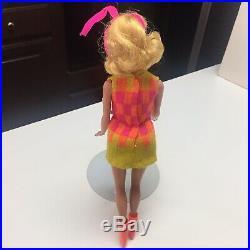 Vintage MOD Mattel Barbie Jamie Walking/TNT Doll Platinum HairRAREVibrantMINT