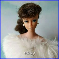 Vintage Mattel 850 PONYTAIL #5 BRUNETTE BARBIE DOLL (1961) ORIGINAL TOP KNOT OSS