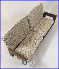 Vintage Mattel Barbie Furniture Wood Mid Century Sofa Chair Table 1950s Japan