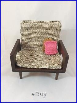 Brilliant Vintage Mattel Barbie Furniture Wood Mid Century Sofa Chair Short Links Chair Design For Home Short Linksinfo