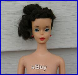 Vintage Mattel Japan Brunette PONYTAIL BARBIE DOLL with Earrings