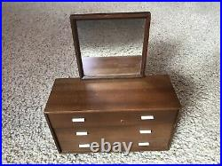 Vintage! Mattel Mid Century Modern 1958 Barbie furniture DRESSER MIRROR WARD