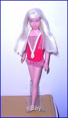 Vintage Mod 1964 Platinum White Blonde Straight Leg Skipper Japan Mint