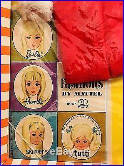 Vintage Mod 1967 Barbie Skipper Skooter Velvet N Lace Outfit TNT Era NRFB Japan