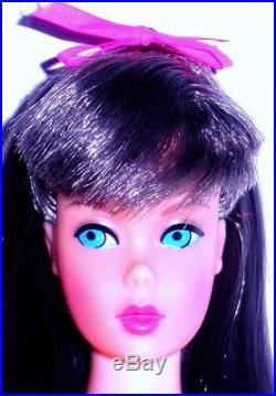 Vintage Mod 1967 Dark Brunette Standard Barbie 1190 TNT Era Japan Mint