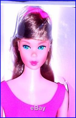 Vintage Mod 1967 Lt. Brunette Standard Barbie 1190 TNT Era NRFB Japan Mint
