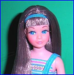 Vintage Mod 1968 Brunette Twist N Turn TNT Skipper Barbie 1105 Japan Mint