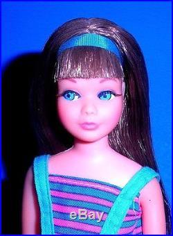 Vintage Mod 1968 Brunette Twist N Turn TNT Skipper Barbie Japan Mint