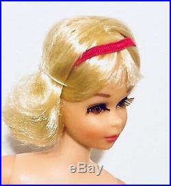 Vintage Mod 1969 Pale Blonde TNT Twist N Turn Francie Barbie Cousin Japan Mint
